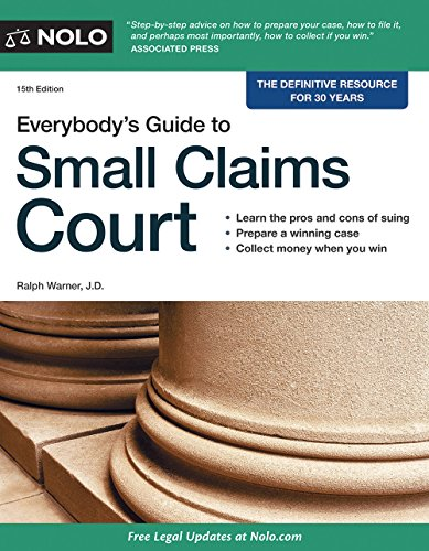 9781413319590: Everybody's Guide to Small Claims Court (Everybody's Guide to Small Claims Court. National Edition)