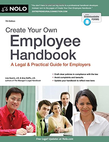 9781413321449: Create Your Own Employee Handbook: A Legal & Practical Guide for Employers