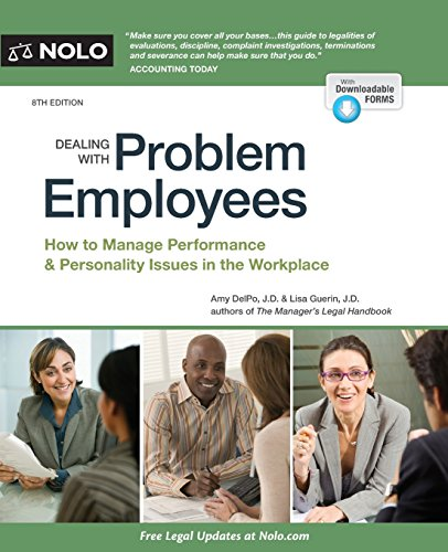 Dealing with Problem Employees: A Legal Guide: DelPo, Amy; Guerin, Lisa, J. D.
