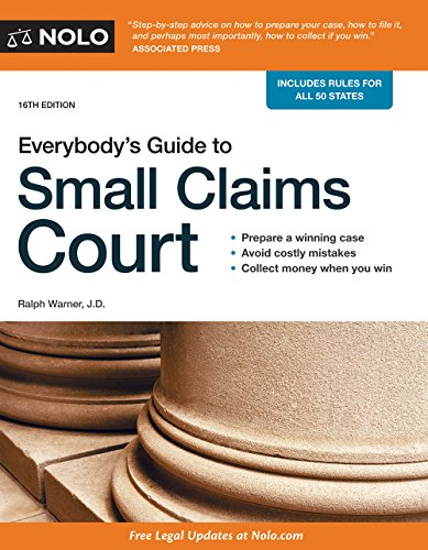 9781413322170: Everybody's Guide to Small Claims Court (Everybody's Guide to Small Claims Court. National Edition)