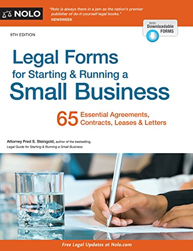 9781413322255: Legal Forms for Starting & Running a Small Business