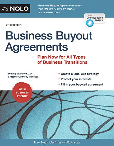 Business Buyout Agreements: Plan Now for All Types of Business Transitions (Paperback): Bethany K. ...