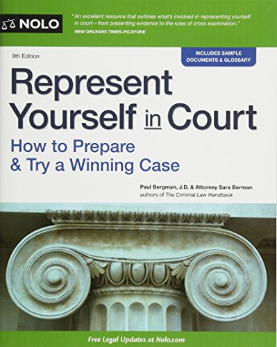 9781413323085: Represent Yourself in Court: How to Prepare & Try a Winning Case