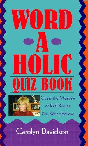 9781413402162: Word-A-Holic Quiz Book