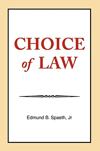 9781413458626: Choice of Law