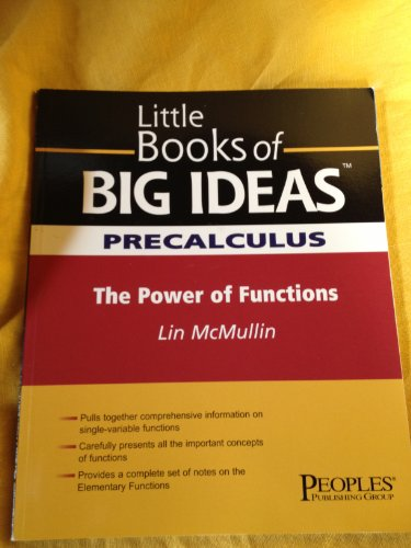 Little Books of Big Ideas Precalculus Understanding: Lin McMullin