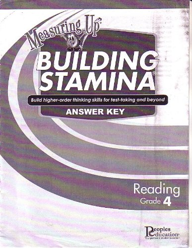 9781413828085: Measuring Up Answer Key for Building Stamina Reading Grade 4