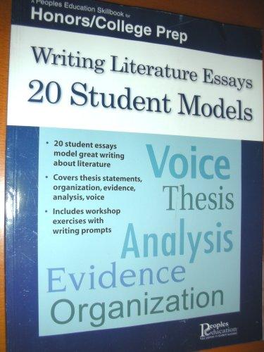 9781413886719: Writing Literature Essays (Honors/College Prep)