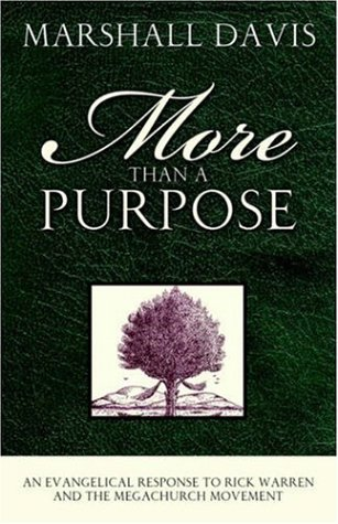 More Than A Purpose, An Evangelical Response to Rick Warren and the Megachurch Movement: Davis, ...