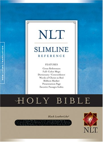 9781414302218: Holy Bible: New Living Translation, Leatherlike Black, Slimline Reference