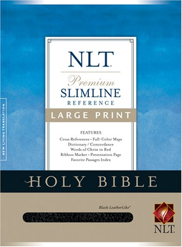 9781414302263: Premium Slimline Reference Bible NLT, Large Print