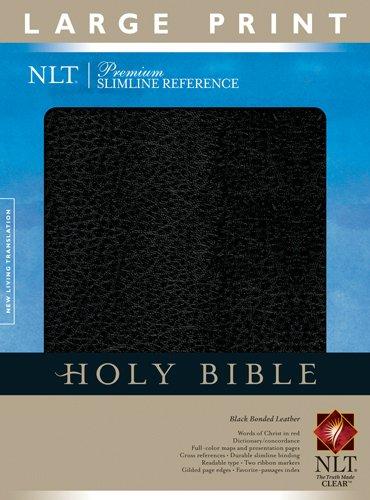 9781414302287: Premium Slimline Reference Bible NLT, Large Print