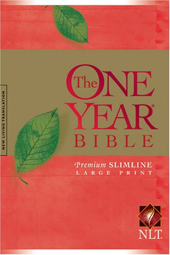 9781414312453: The One Year Bible NLT, Premium Slimline Large Print edition