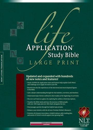 Life Application Study Bible NLT, Large Print: Tyndale