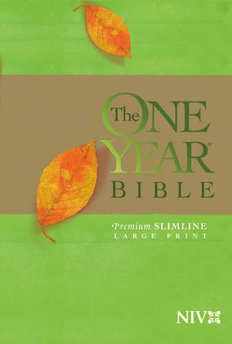 The One Year Bible: New International Version, Premium Slimline, Large Print