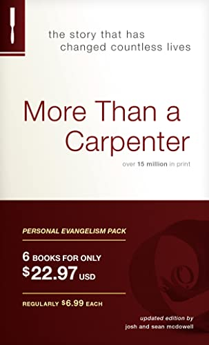 9781414326283: More Than a Carpenter Personal Evangelism 6-pack