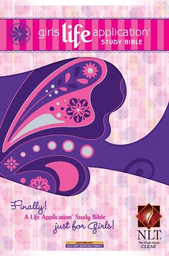 9781414333977: Girls Life Application Study Bible NLT, Butterfly