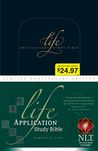 9781414333984: Life Application Study Bible: New Living Translation Black Personal Size