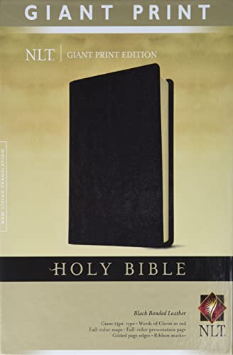 9781414337500: Holy Bible, Giant Print NLT (Bonded Leather, Black)