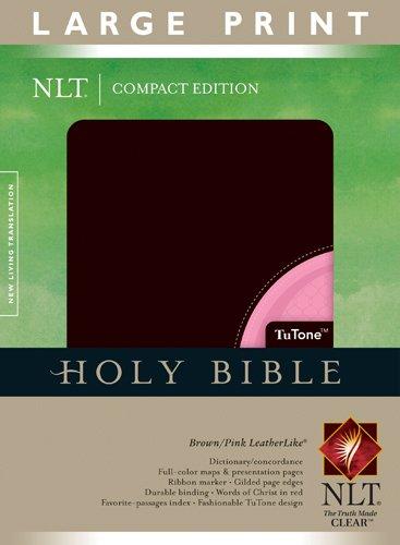 9781414337579: Large Print Bible-NLT-Compact (Bible Nlt Index Edition)