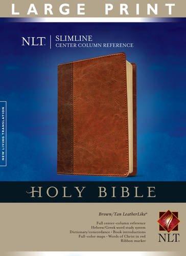 9781414338491: NLT Slimline Center Column Reference Bible, Large Print