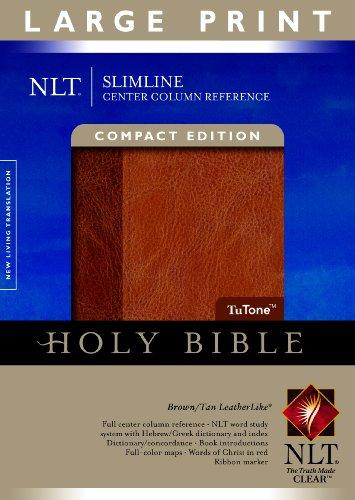 9781414338552: NLT Slimline Center Column Reference Bible, Compact Edition,
