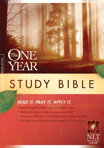 9781414339221: The One Year Study Bible NLT
