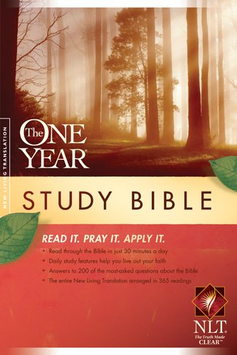 9781414339238: The One Year Study Bible NLT