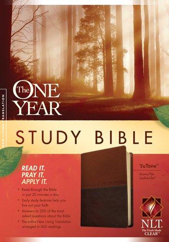 9781414339245: The One Year Study Bible NLT, TuTone