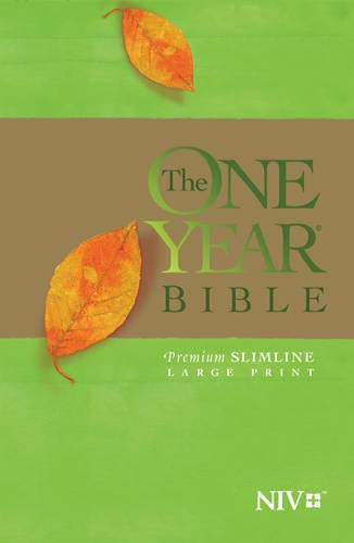 9781414359854: The One Year Bible NIV, Premium Slimline Large Print edition