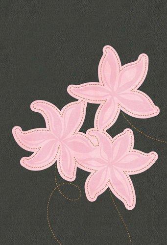 Large Print Bible-NLT-Compact Flower (Imitation Leather)