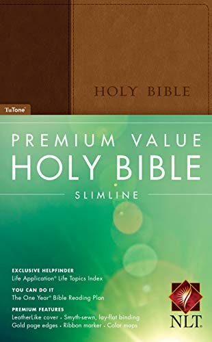 9781414369891: Premium Value Slimline Bible NLT, TuTone