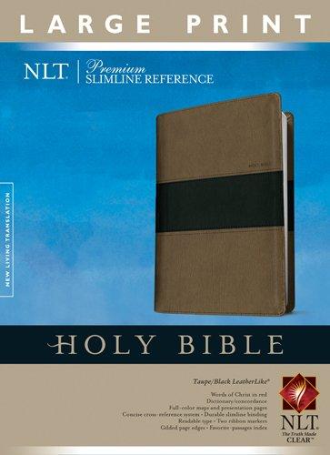 9781414375113: Premium Slimline Reference Bible NLT, Large Print, TuTone