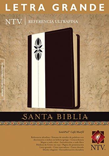 9781414378541: Santa Biblia NTV, Edición de referencia ultrafina, letra grande, DuoTono (Letra Roja, SentiPiel, Café/Marfil) (Spanish Edition)