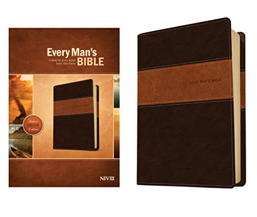 9781414381107: Every Man's Bible NIV, Deluxe Heritage Edition, TuTone