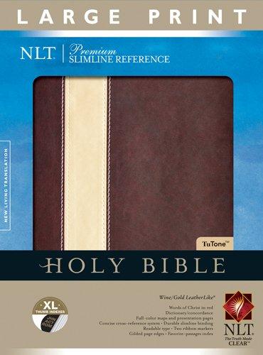 9781414387598: Premium Slimline Reference Bible NLT, Large Print TuTone
