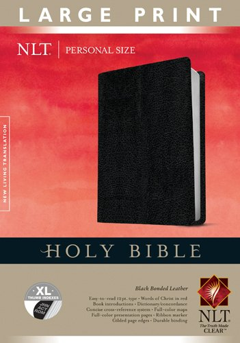 9781414387727: Holy Bible NLT, Personal Size Large Print edition (Bonded Leather, Black, Indexed)