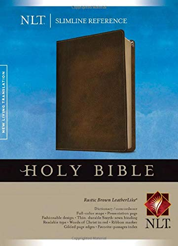 9781414397702: Slimline Reference Bible NLT (LeatherLike, Brown)