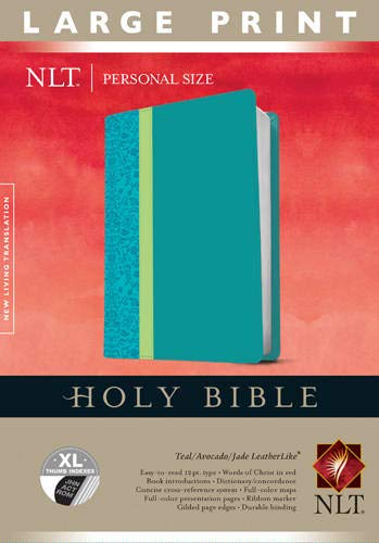 9781414398464: Holy Bible NLT, Personal Size Large Print edition, TuTone (LeatherLike, Teal, Indexed)