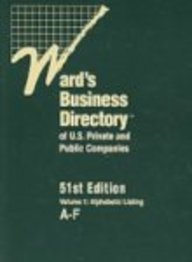 Wards Bus Dir 51 8V Set & Sup (Ward'S Business Directory Of U.S. Private & Public ...