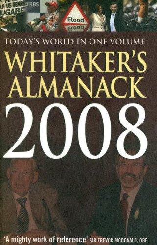 Whitakers Almanac 2008 (Whitaker's Almanack): Joseph Whitaker