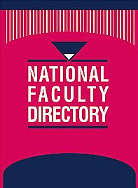 9781414433844: National Faculty Directory (National Faculty Directory (3 vol.))