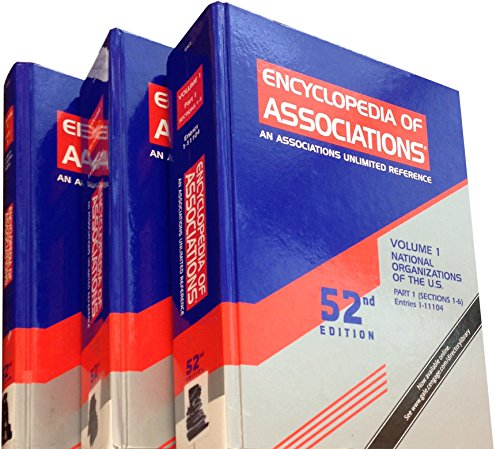 9781414468723: Encyclopedia of Associations: National Organizations of the U.S., 3 Volume Set (ENCYCLOPEDIA OF ASSOCIATIONS, VOL 1: NATIONAL ORGANIZATIONS OF THE US)
