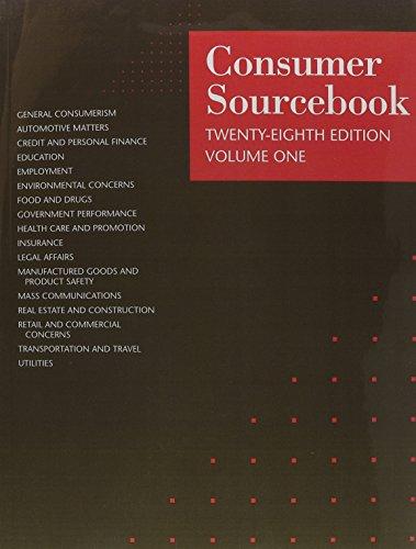 Consumer Sourcebook: 3 Volume Set