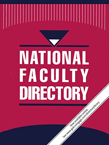 9781414492285: National Faculty Directory: 8 Volume Set