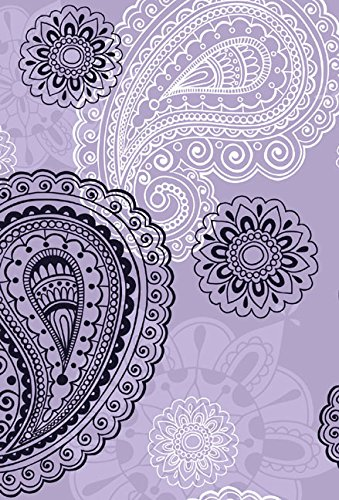 9781415319147: Small Hardbound Notebook - Violet Paisley (Delicious Stationery)