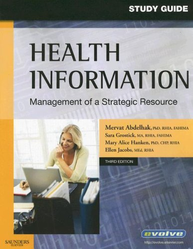 9781416030041: Student Study Guide for Health Information: Management of a Strategic Resource, 3e