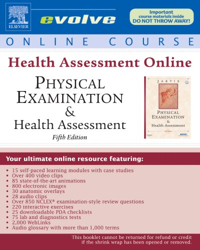 Health Assessment Online for Physical Examination and: Jarvis, Carolyn/ National
