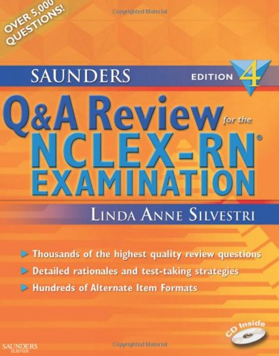 9781416048503: Saunders Q & A Review for the NCLEX-RN®  Examination, 4e (Silvestri, Saunders Q & A Review for the NCLEX-RN Examination)