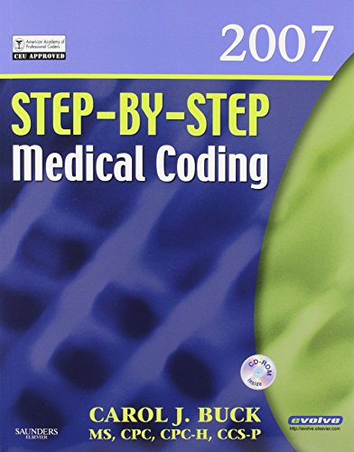 9781416052432: Step-by-Step Medical Coding 2007 Edition - Text, Workbook, 2008 ICD-9-CM, Volumes 1, 2, & 3 Professional Edition, 2007 HCPCS Level II and 2007 CPT Standard Edition Package